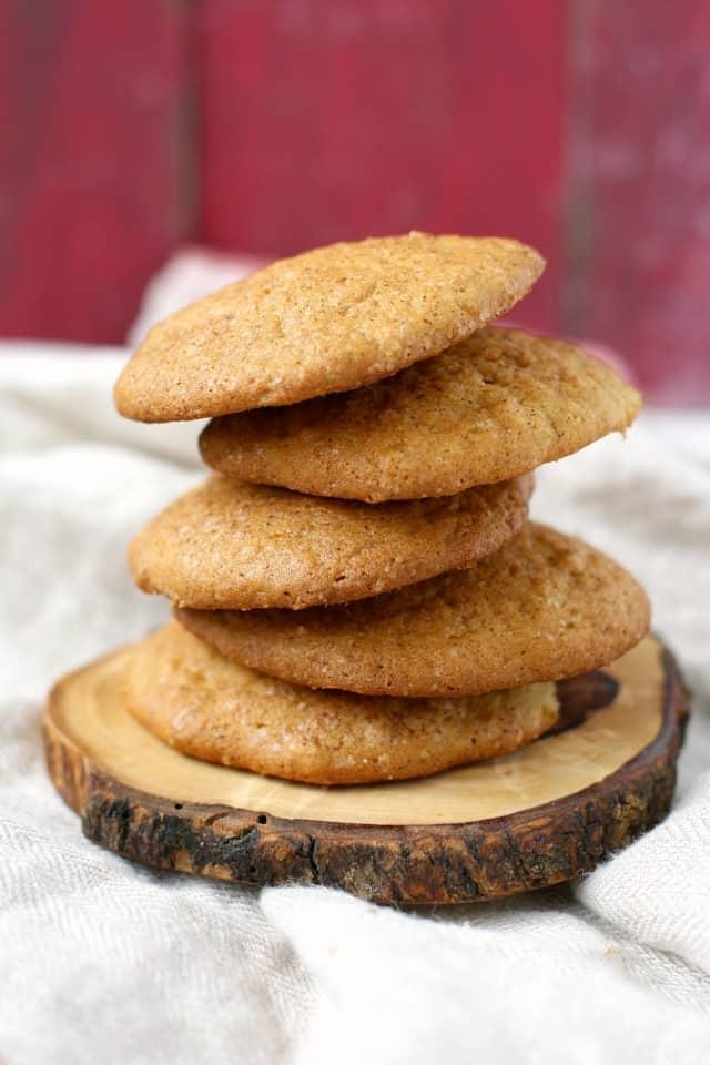 gluten free banana snickerdoodle cookies