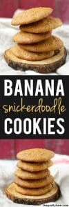 banana snickerdoodle cookie recipe