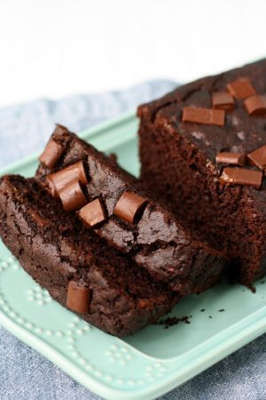 chocolate zucchini loaf cake