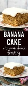 frosted banana cake recipe
