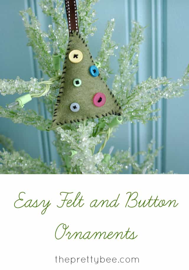 An easy DIY Christmas project - felt and button ornaments.