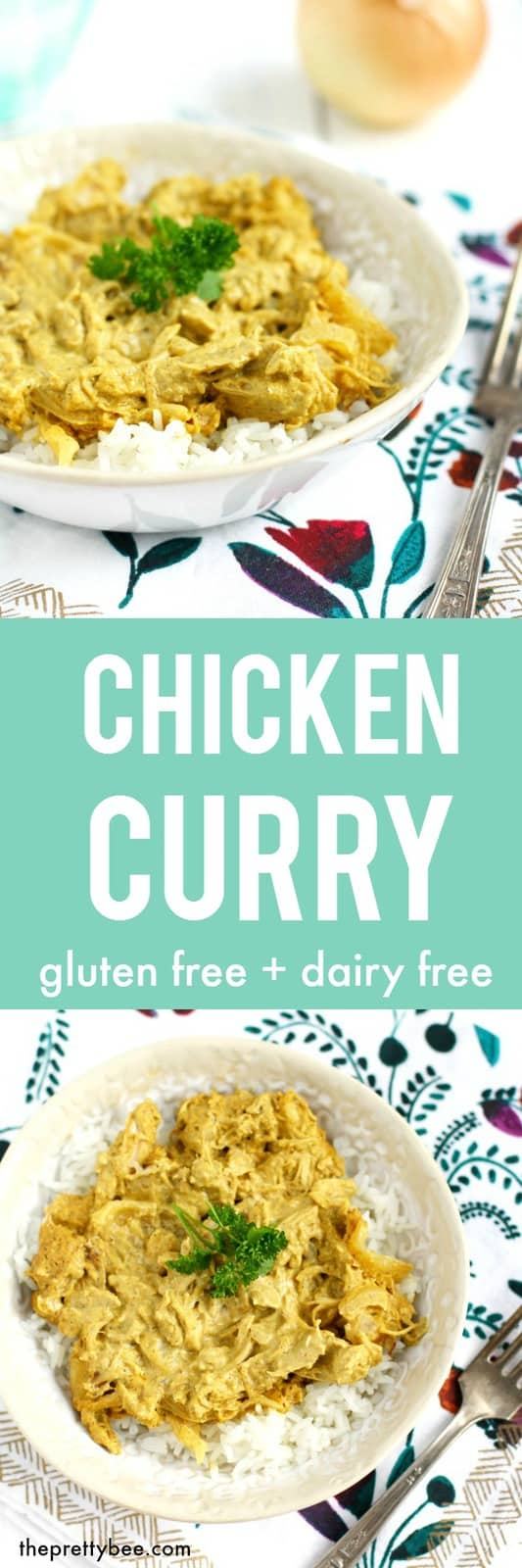 Easy and delicious chicken curry - this is a fast recipe that your family will love!