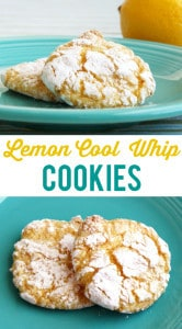 Delicious, lemony, melt in your mouth cool whip cookies! These are seriously addictive. #cookies
