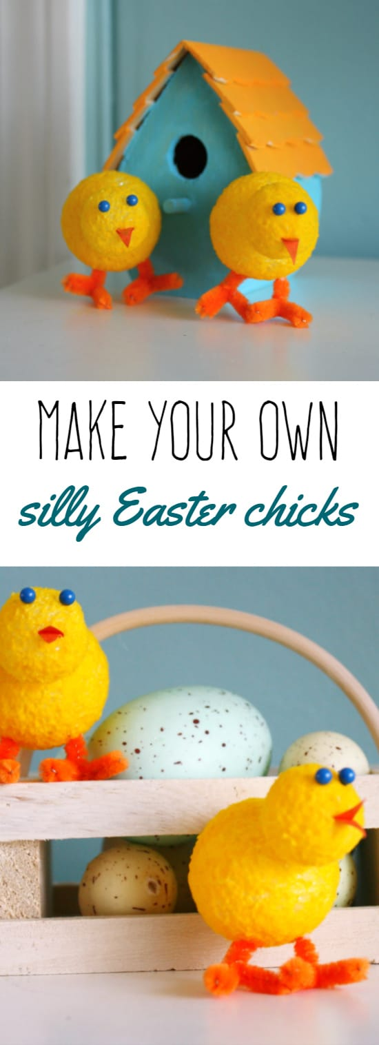 Make these cute little fuzzy Easter chicks! A fun and easy project for springtime. #easter