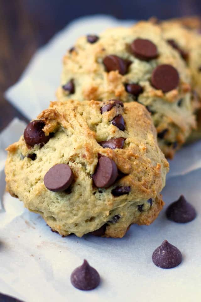 Soft, cake-like chocolate chip banana cookies are delicious and comforting!
