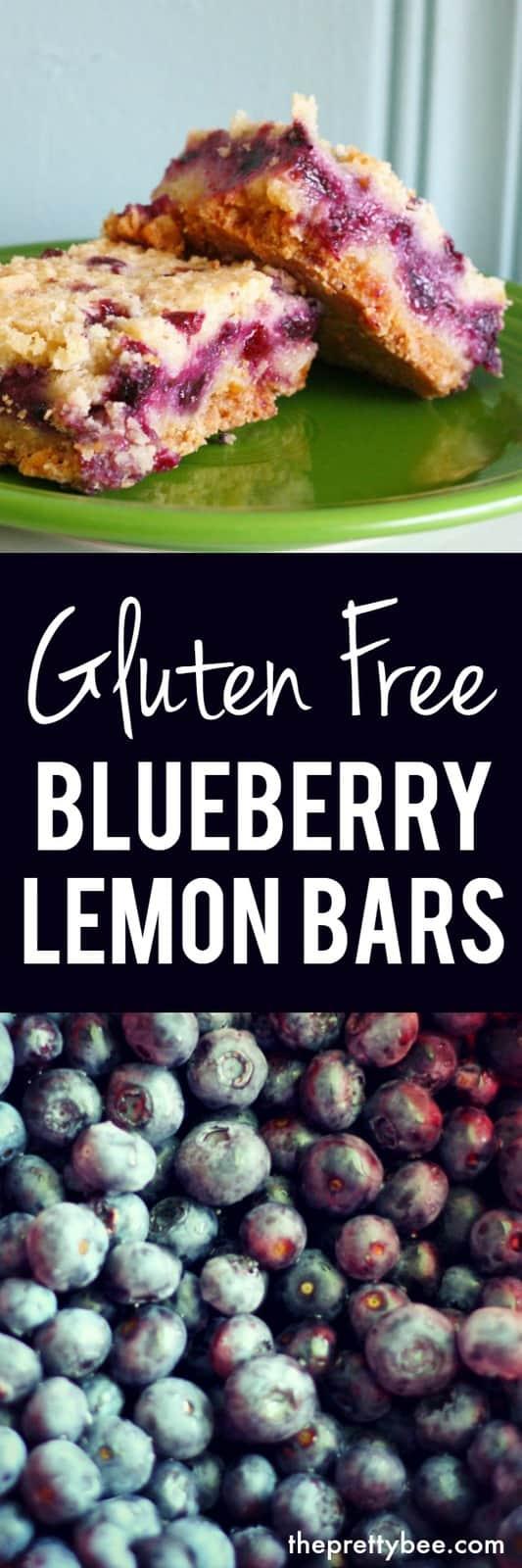 recipe for gluten free blueberry lemon bars