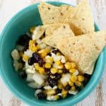 Black bean, corn, and feta dip