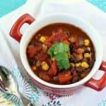 Quick and Easy Vegan Black Bean Soup.