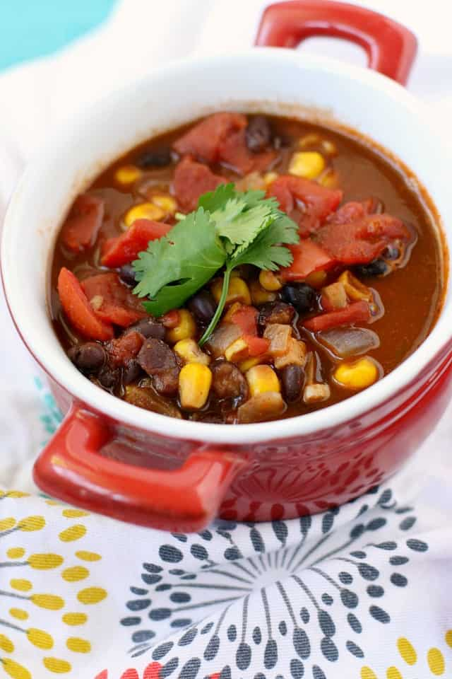 Quick and easy vegan black bean soup recipe