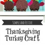A simple and fun glittered Thanksgiving turkey craft for kids. www.theprettybee.com