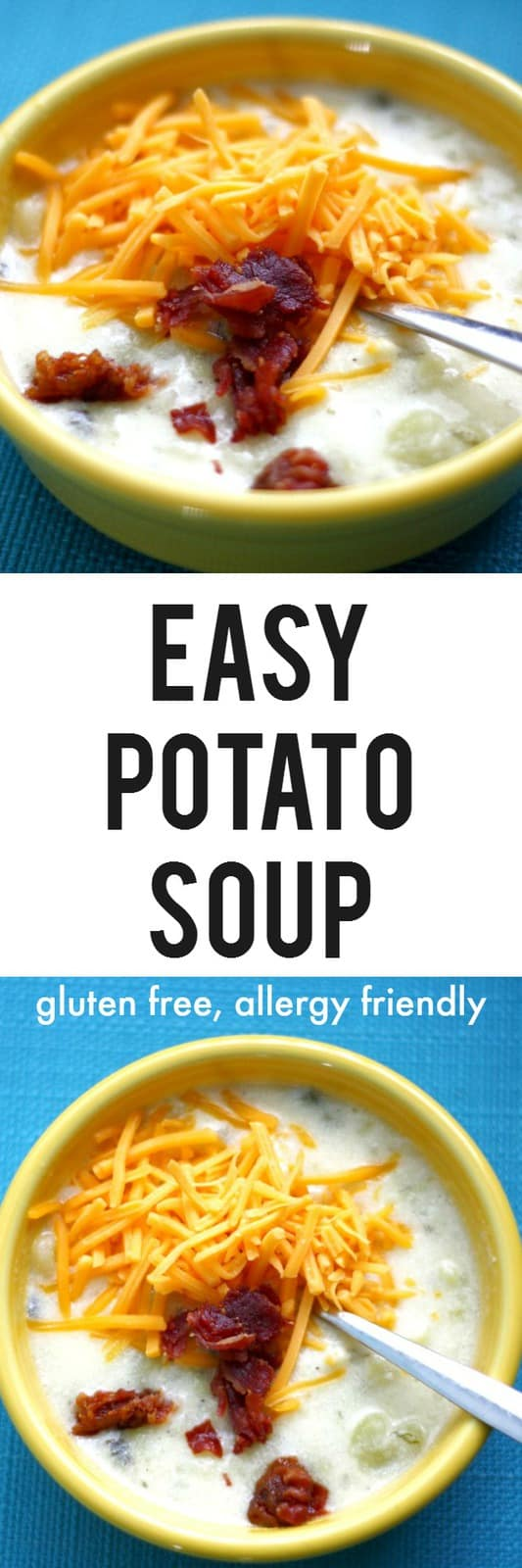 Comforting and delicious creamy potato soup is gluten free and perfect for cold days.