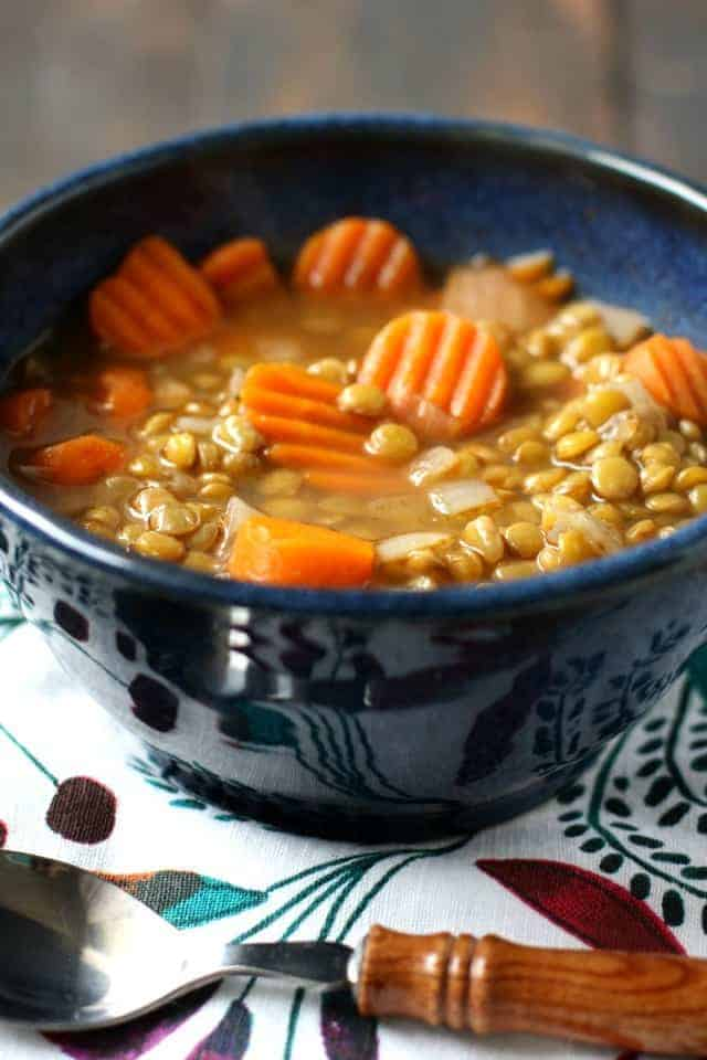 The best lentil soup - this recipe is easy, delicious, and healthy!