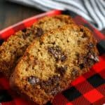 Deliciously easy gluten free banana bread with chocolate chunks.