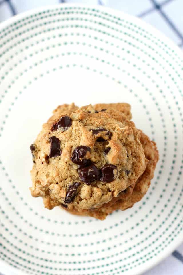 gluten free chocolate chip banana cookies