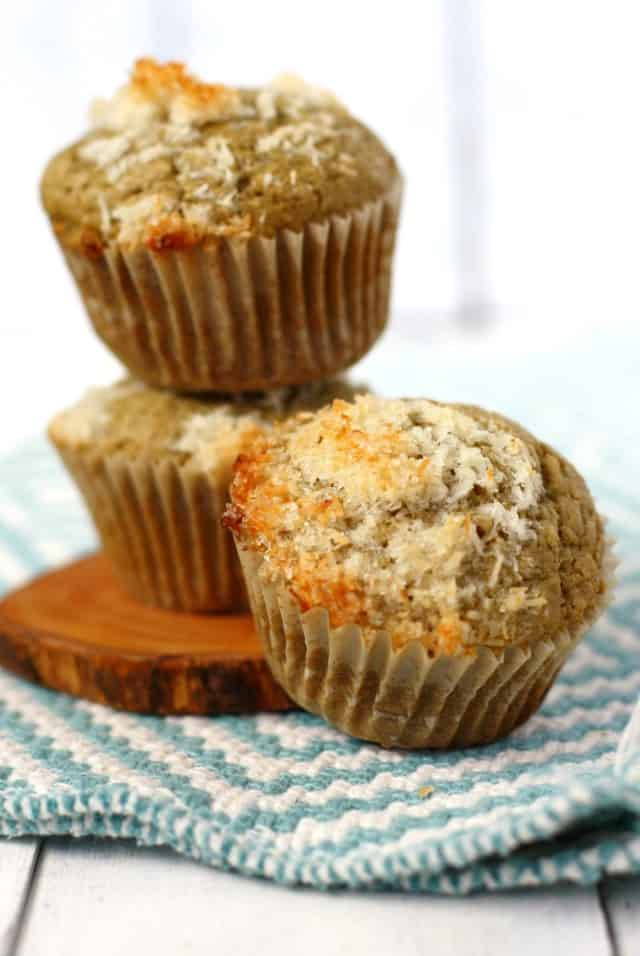coconut streusel topped dairy free muffins