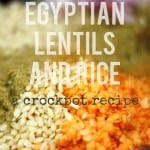 Crockpot Recipe: Egyptian Lentils and Rice.
