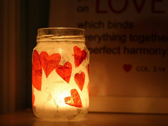 valentines day candle craft