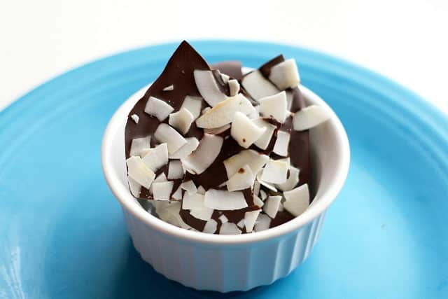 dark chocolate coconut bark