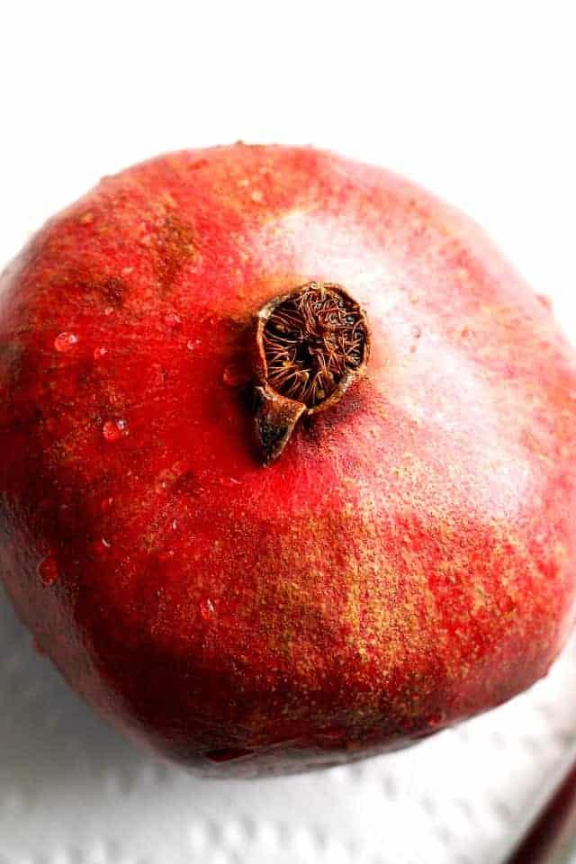 a whole pomegranate
