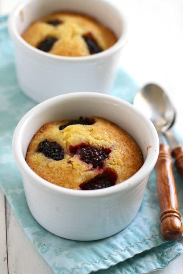 gluten free dairy free blackberry cakes