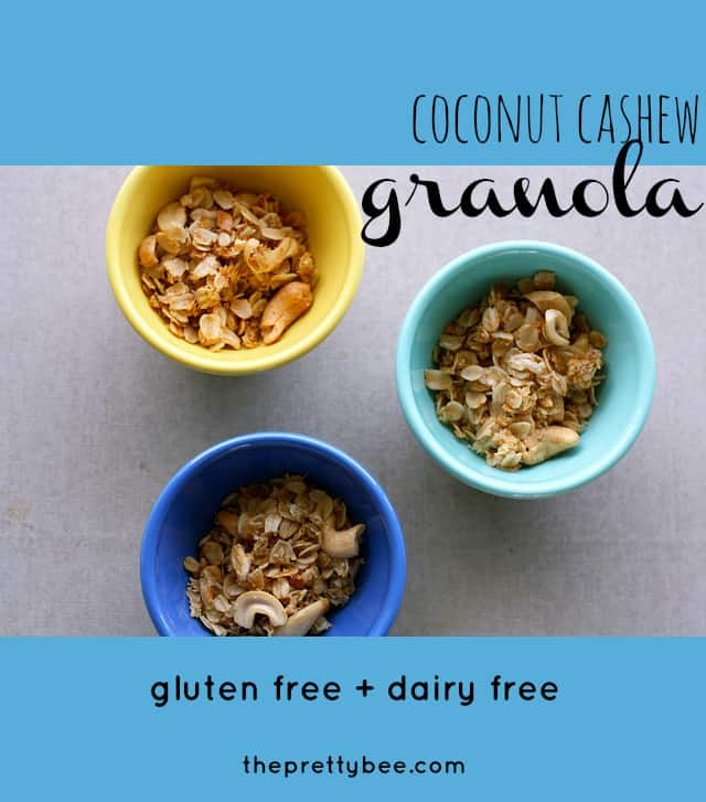 Simple to make, this coconut cashew granola is tasty and addictive!
