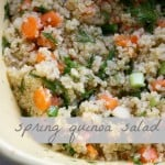 Easy quinoa salad with dill and carrots. Fresh, gluten free, and vegan.