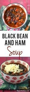 gltuen free black bean and ham soup recipe