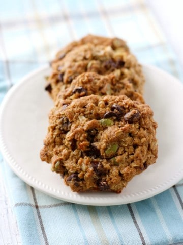 These vegan cowboy cookies are loaded with seeds, chocolate chips, coconut, and oats! SO good!