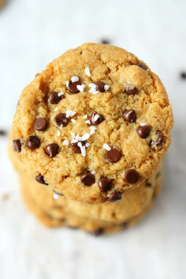 Salted chocolate chip cookies are the perfect combination of salty and sweet!