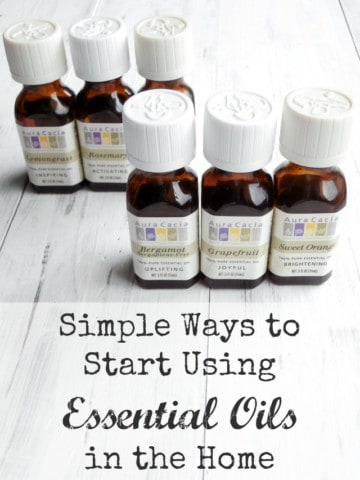 Simple ways to start usin essential oils in your home.