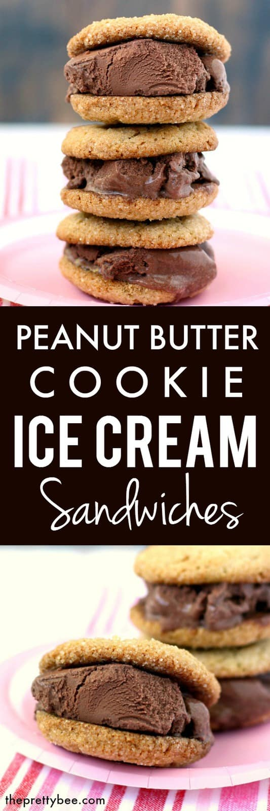 These peanut butter chocolate ice cream sandwiches are gluten free and vegan and so easy to make!