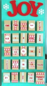 homemade advent calendar with boxes