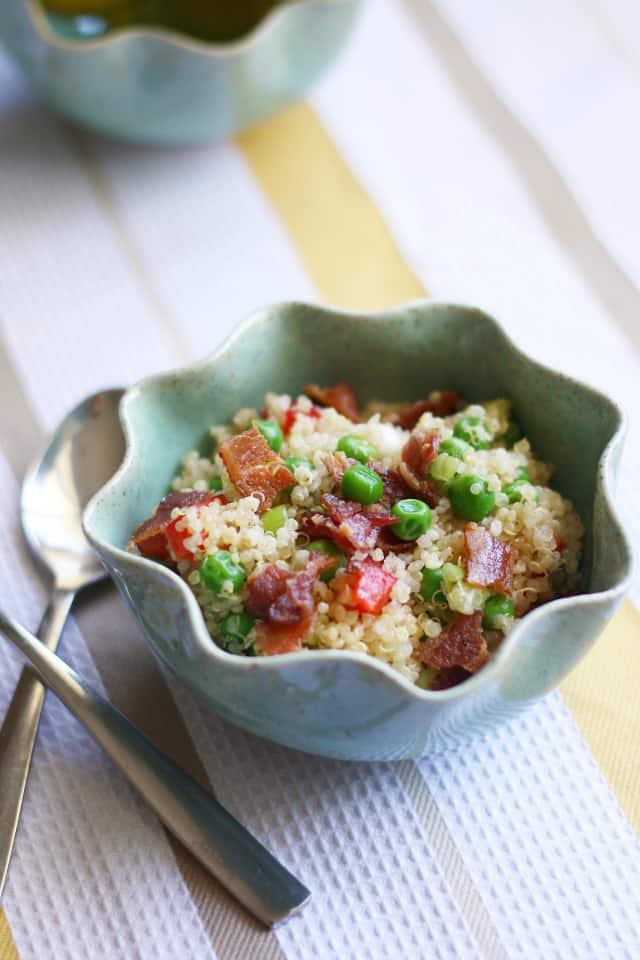 pea and bacon quinoa salad recipe