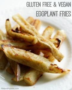 An addictive way to eat eggplant! Crispy, tasty eggplant fries made vegan and gluten free.