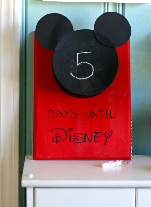 Disney World countdown calendar
