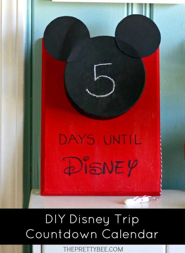Diy Calendar Countdown : Diy disney countdown calendar the pretty bee