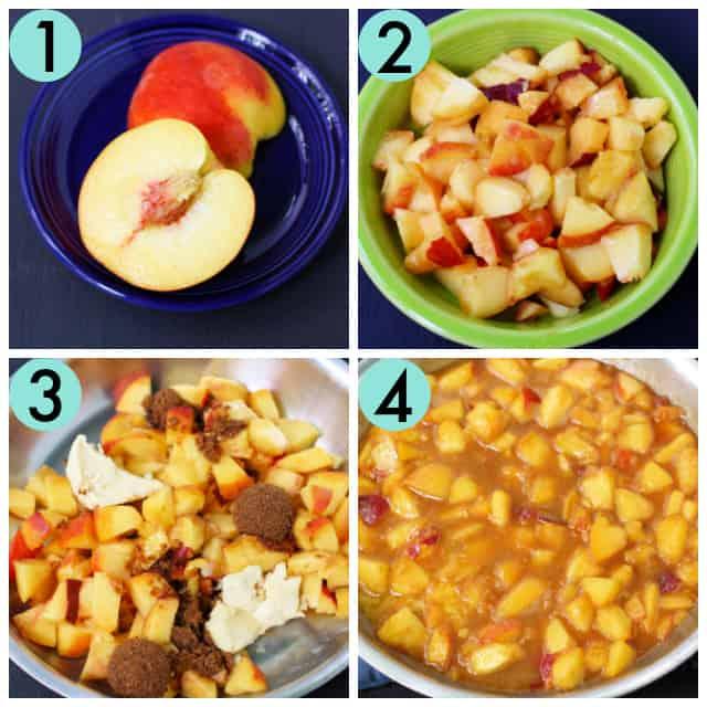 how to saute peaches