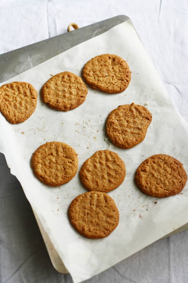dairy free gluten free peanut butter cookies