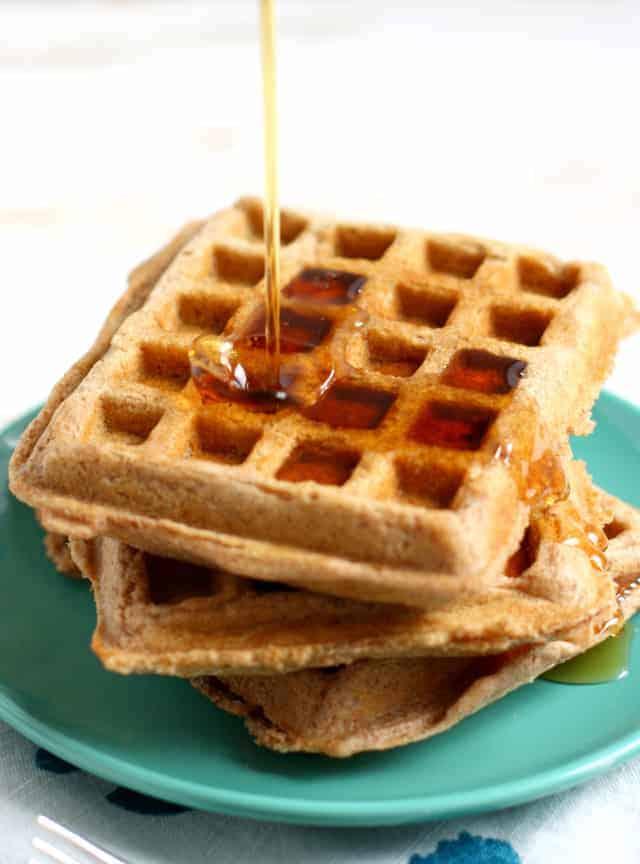 Vegan Whole-Grain Spelt Waffles