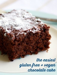 Super easy and super delicious gluten free and vegan chocolate cake recipe. #glutenfree #vegan