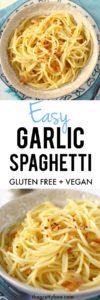 easy garlic spaghetti