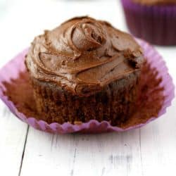 vegan and gluten free double chocolate cupcakes