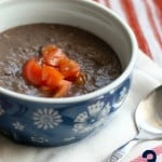 This tasty black bean soup is gluten free, vegan, and made with just three ingredients! Easy and healthy.