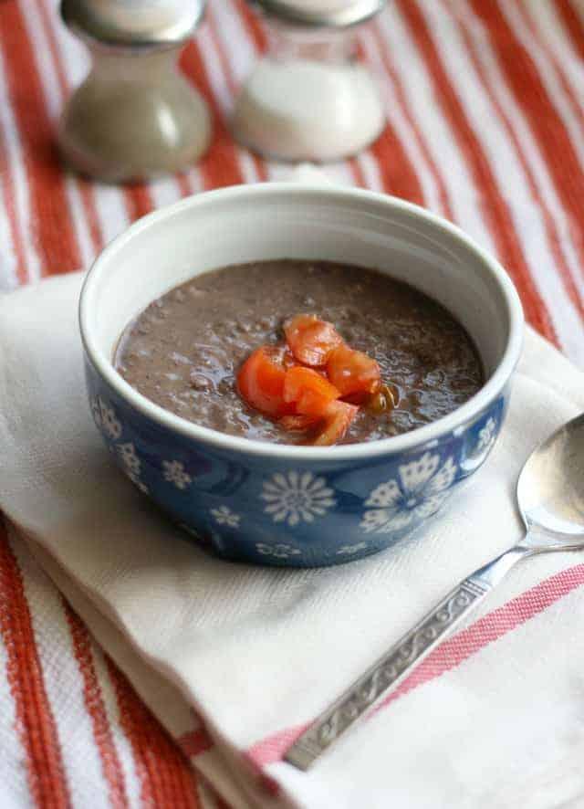 three ingredient black bean soup