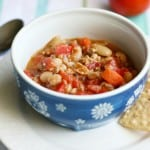 turkey and white bean chili, dairy free and gluten free