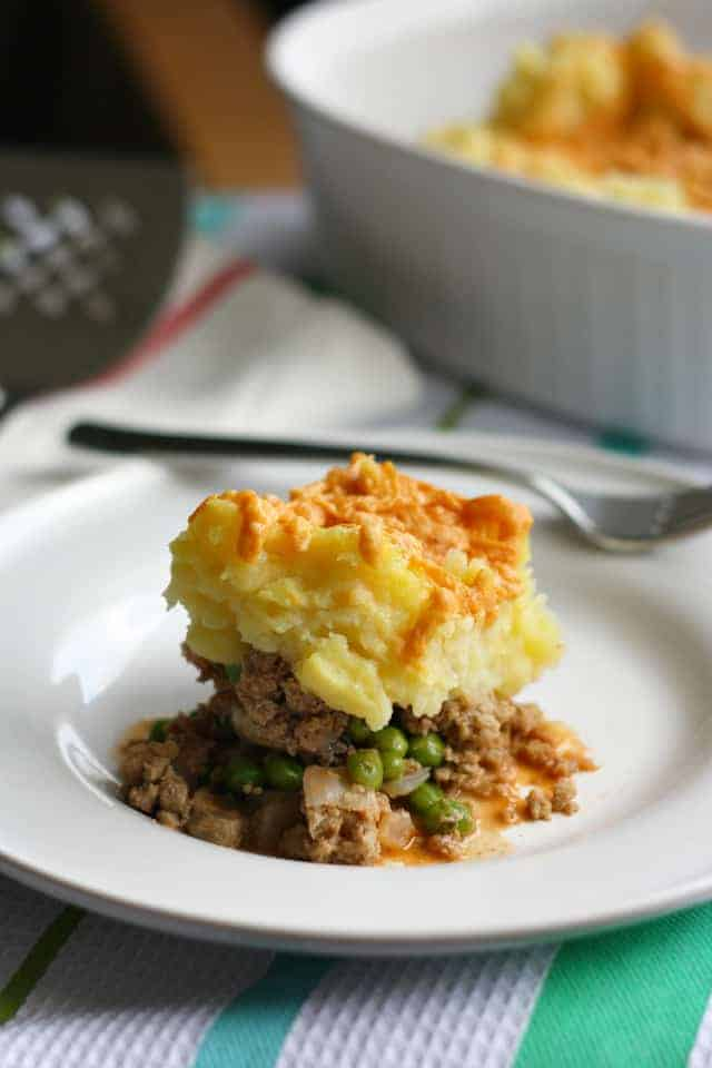 Tasty and easy turkey shepherd's pie recipe. A simple gluten free dinner! #gfree #glutenfree