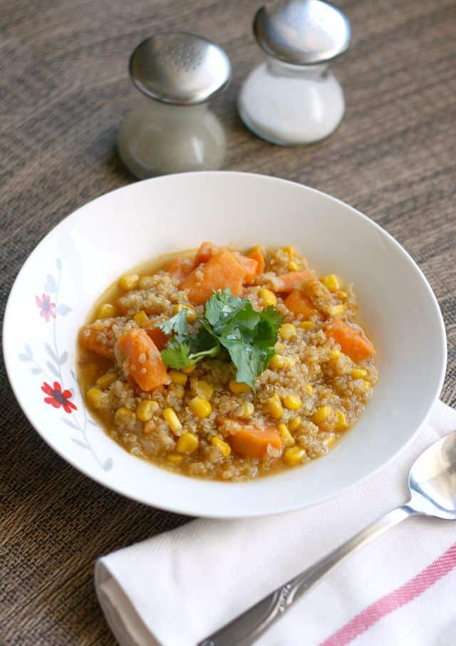 sweet potato quinoa chowder recipe
