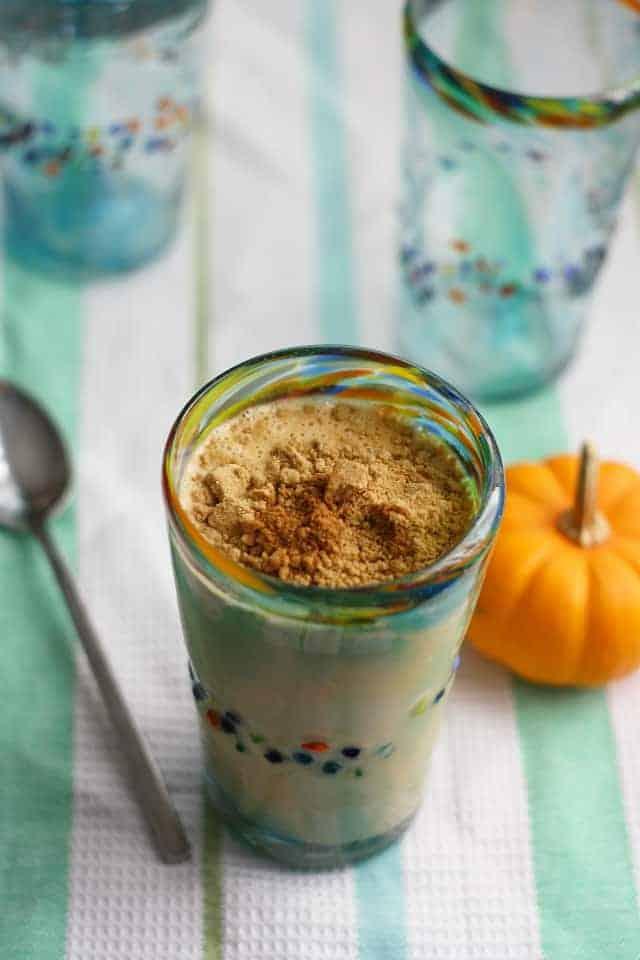 dairy free pumpkin pie milkshake