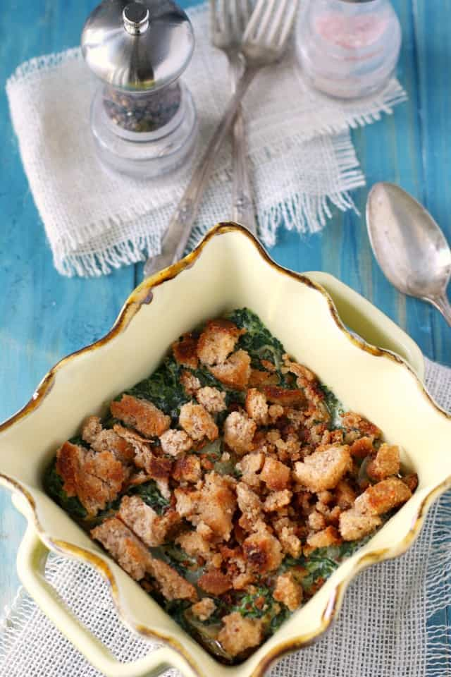 dairy free spinach gratin