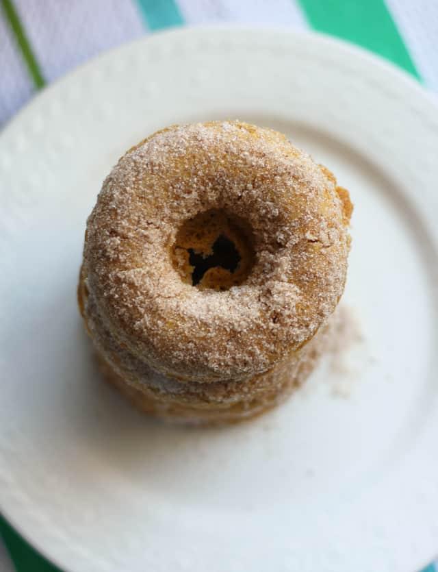 Multi-Grain Pumpkin Donuts With Spiced Sugar Recipe — Dishmaps